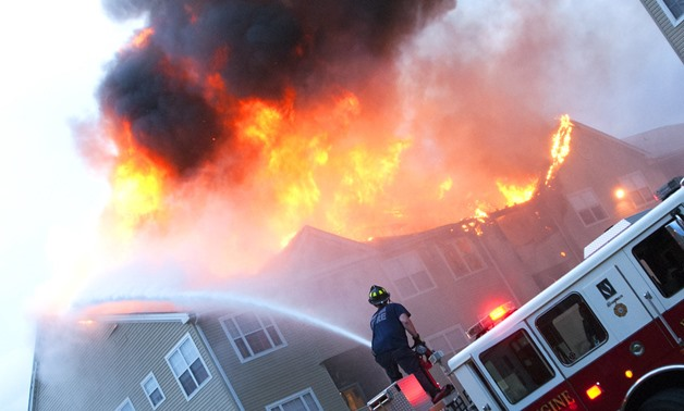 Meade firefighters help extinguish apartment fire off post - CC via Flickr/Fort George G. Meade Public Affairs Office