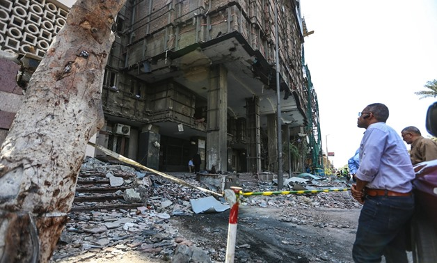 The prosecution has ordered forming an engineering committee to assess the damage caused to the building of the Cairo University-affiliated National Cancer – Egypt Today/Karim Abdel Aziz