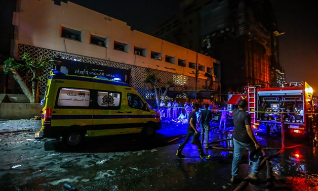 The National Cancer Institute explosion scene in Cairo, Egypt. August 6, 2019. Egypt Today/Hussein Talal