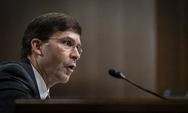 """""""Clearly we believe any unilateral action by them (Turkey) would be unacceptable,"""" Mark Esper said. (File/AFP)"""