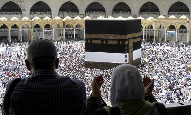 Security authorities organized the roads and guided pilgrims in order to ensure their safe passage (AP)