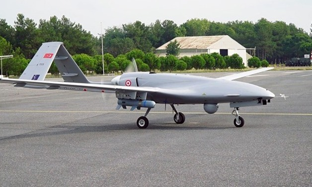 This file photo shows a Turkish Bayraktar TB2 unmanned aerial vehicle. (Reuters)