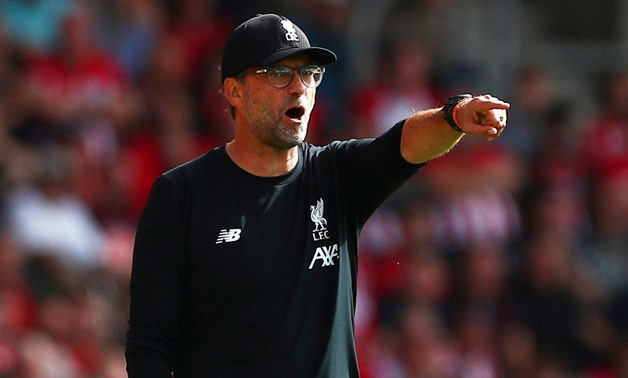 FILE PHOTO: Soccer Football - Premier League - Southampton v Liverpool - St Mary's Stadium, Southampton, Britain - August 17, 2019 Liverpool manager Juergen Klopp during the match REUTERS/Hannah McKay