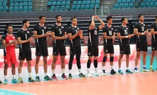 Egypt U19 volleyball team in the 2019 FIVB World U19 championship in Tunisia, photo courtesy of the tournament's official website