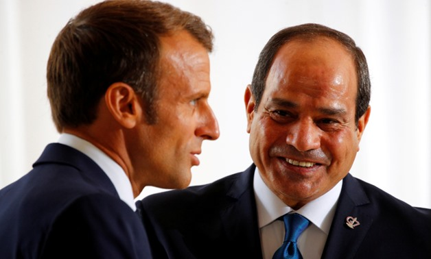 Egyptian President Abdel Fattah al-Sisi meets with French President Emmanuel Macron in Biarritz - Reuters