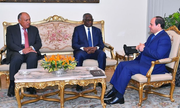 President Sisi during a meeting with Guinean Foreign Minister Mamadi Touré on Tuesday - Press Photo