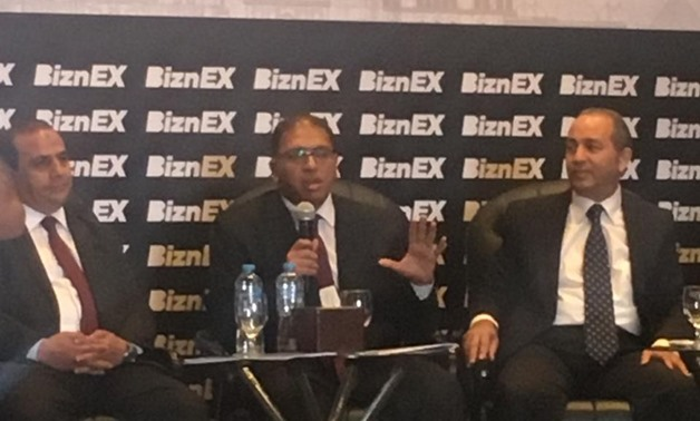 During Director of the Central Credit Department at Micro, Small & Medium Enterprise Development Agency (MSME) Hazem Salah's speech at BinzEX conference/ Hanan Mohamed/ Egypt Today