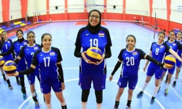 File- Egypt U18 Volleyball team