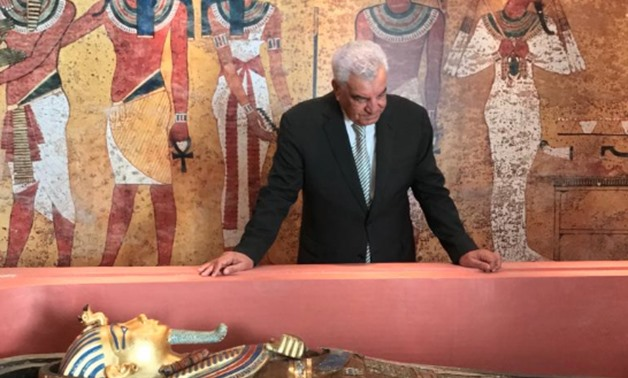 Egyptian archaeologist Zawi Hawass during the inauguration - ET