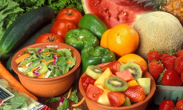 Fresh cut fruits and vegetables - CC via Wikimedia Commons/Peggy Greb, U.S. Department of Agriculture