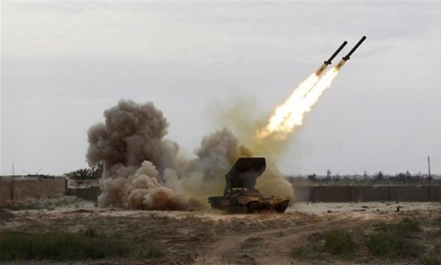 FILE: The Houthi militias continued to violate international humanitarian law and its customary rules by firing ballistic missiles
