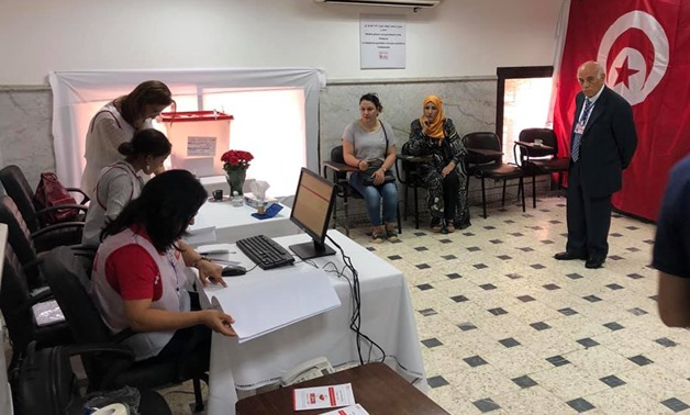 unisians cast their votes at the Tunisian embassy in Cairo in the presidential election 2019- photo courtesy Mohamed Nashaat's Facebook page.