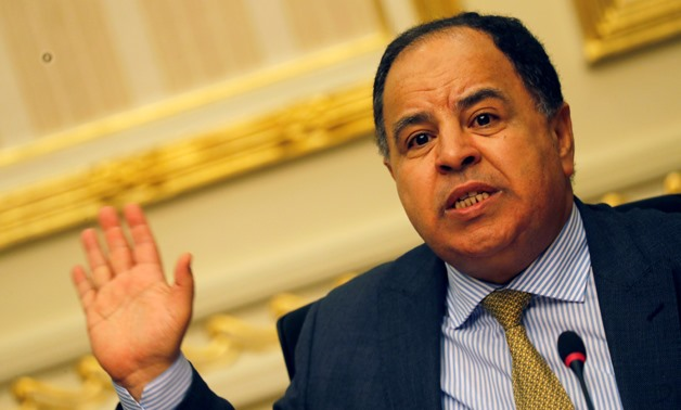 FILE PHOTO: Egypt's Finance Minister Mohamed Maait gestures during a news conference in Cairo, Egypt July 17, 2019. REUTERS/Amr Abdallah Dalsh/File Photo