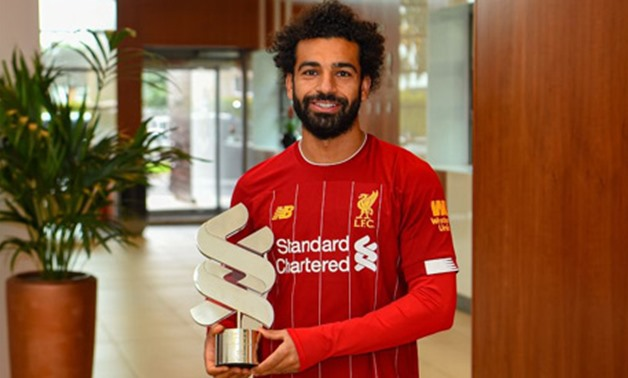 Salah wins Liverpool's Player of the Month Award – photo courtesy of the club official website