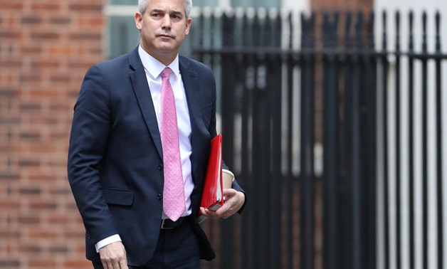 Britain's Secretary of State for Exiting the European Union Stephen Barclay walks outside Downing Street in London, Britain, September 5, 2019. REUTERS/Simon Dawson