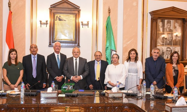The agreement was signed by official from Cairo University and the University of Pennsylvania - Cairo University