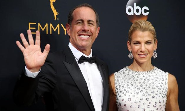 FILE PHOTO: Comedian Jerry Seinfeld and his wife Jessica arrive at the 68th Primetime Emmy Awards in Los Angeles, California, U.S., September 18, 2016. REUTERS/Lucy Nicholson/File Photo.