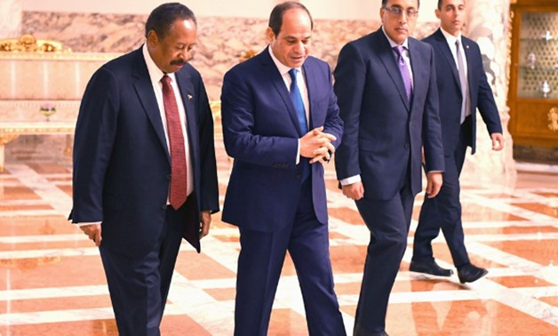 Sisi, Sudanese PM agree on promoting joint cooperation