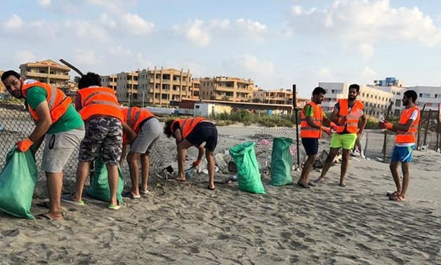 Clean Shores removes plastic from Kafr El-Sheikh beach