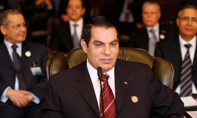 FILE PHOTO: Tunisian President Zine al Abidine Ben Ali attends the opening of the two-day Arab Summit in Damascus March 29, 2008. REUTERS/Jamal Saidi/File Photo