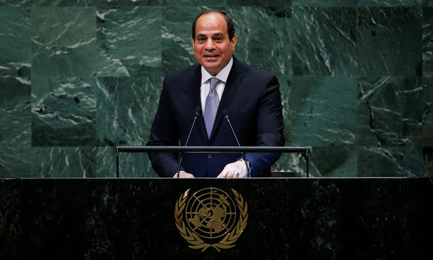 FILE- Egypt's President Abdel Fattah al-Sisi addresses the 73rd session of the United Nations General Assembly at U.N. headquarters in New York, U.S., September 25, 2018. REUTERS/Eduardo Munoz
