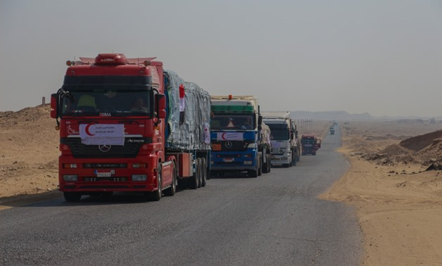 The Egyptian Red Crescent (ERC) sent Sudan commodities and food aid - press photo