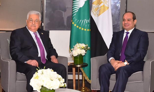 Egyptian President Abdel Fattah Al-Sisi met with Palestinian President Mahmoud Abbas, on the sidelines of the meeting of the United Nations General Assembly in New York – Press photo