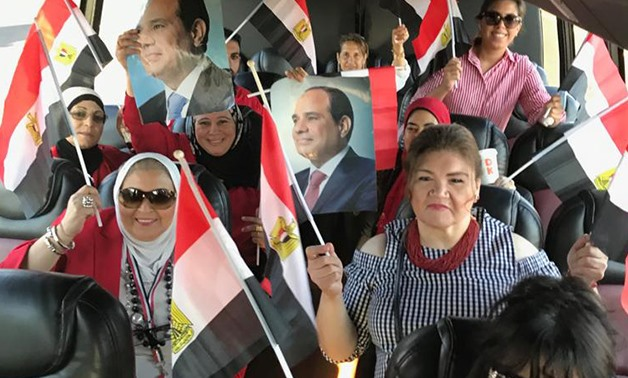 Dozens of Egyptian community members gathered to express support for President Sisi - Egypt Today