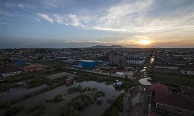 The city of Juba is seen at sunset, October 4, 2012. REUTERS/Adriane Ohanesian