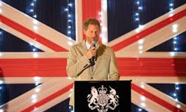 Britain's Prince Harry, Duke of Sussex speaks during reception at the British High Commissioner's Residence in Lilongwe, Malawi, September 29, 2019. Dominic Lipinski/Pool via REUTERS