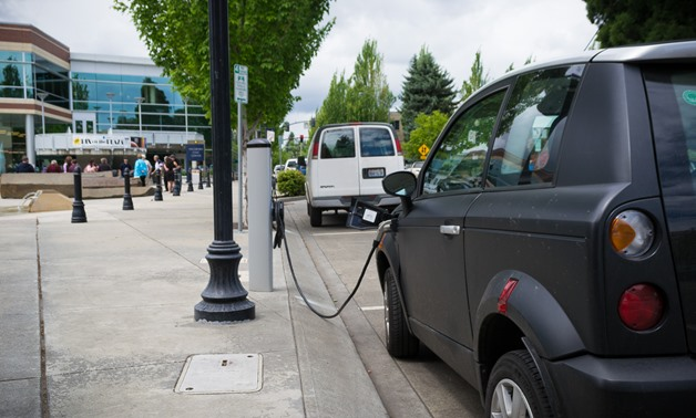A charging station for electric cars in Hillsboro, Oregon - CC via Wikimedia Commons/Visitor7