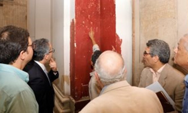 Min. of Antiquities during the inspecting tour at the museum - ET