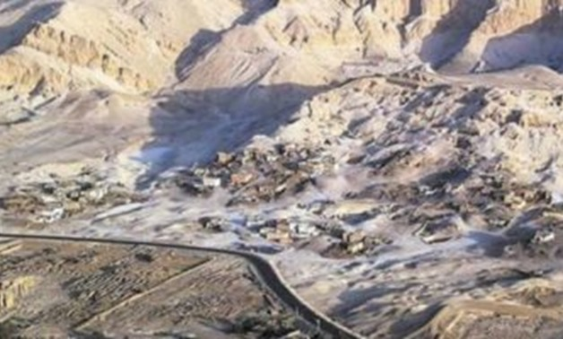 Aerial photo of the Valley of Apes in Luxor - Press photo