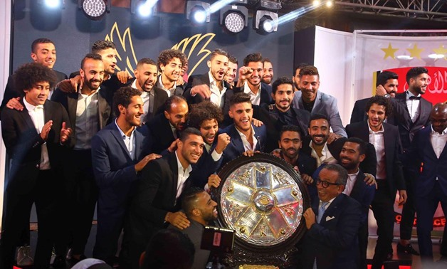 File- Al-Ahly players during the ceremony