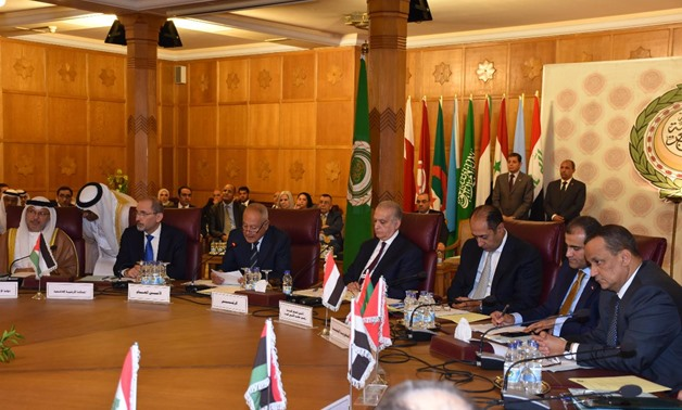 Emergency meeting of Arab League on Turkey's aggression against Syria attended by foriegn ministers in Cairo, Egypt. October 12, 2019. Egypt Today