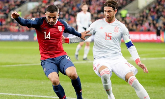 File- Ramos in action during the game against Norway, photo courtesy of Marca