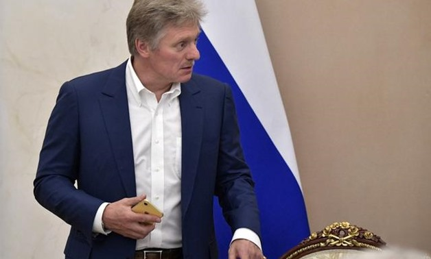 FILE PHOTO: Kremlin spokesman Dmitry Peskov attends a meeting, dedicated to the upcoming televised phone-in of Russian President Vladimir Putin with citizens, in Moscow, Russia June 19, 2019. Sputnik/Alexei Nikolsky/Kremlin via REUTERS