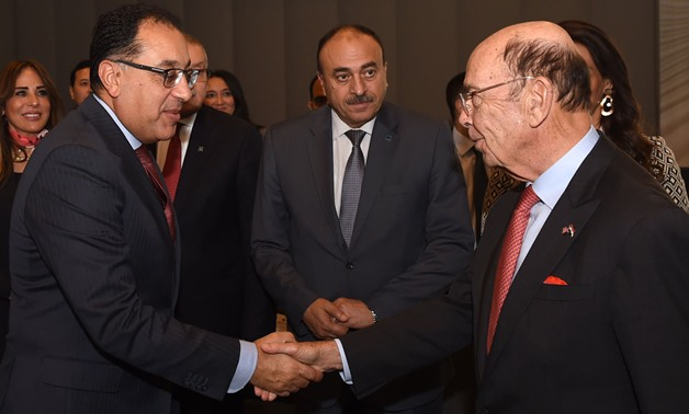 Egypt's Prime Minister met with Wilbur Ross, US Secretary of Commerce, during his visit to Washington - Courtesy of the Egyptian Cabinet