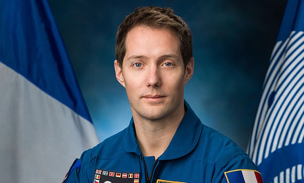 French astronaut Thomas Pasquet gives an interview to AFP on May 30, 2017 - AFP