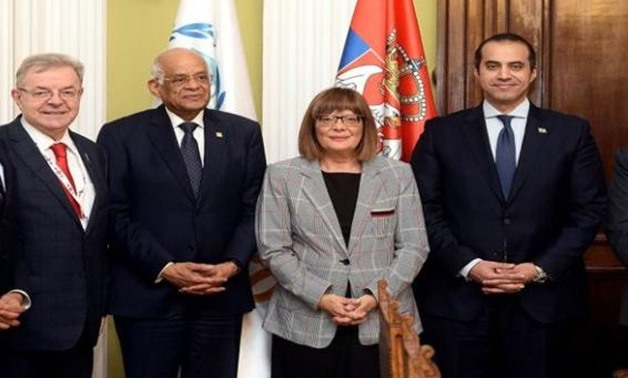 President of the Serbian National Assembly Maja Gojković received Egypt's counterpart Ali Abdel Aal - Courtesy of the Egyptian House of Representatives