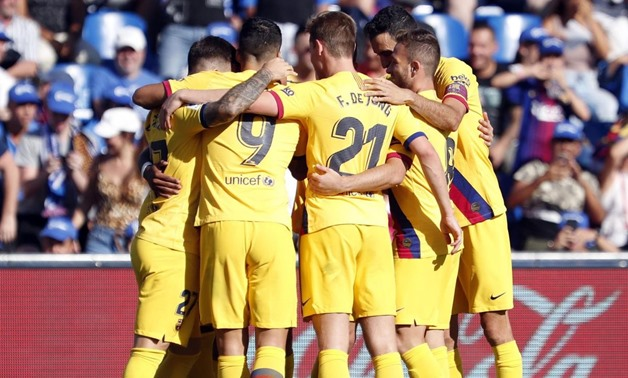 File- Barcelona team, photo courtesy of Barcelona official website