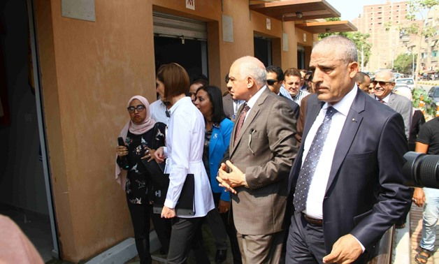 General Ahmed Rashed, Governor of Giza, accompanied by Maya Morsy, Chairman of the National Council for Women, opened on Sunday a legitimate market for street vendors in the crowded Bulaq al-Dakrour district - Press photo
