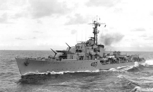 Israeli warship, Eilat, is the first in history to be sunk by ship-to-ship missiles - Wikimedia Commons