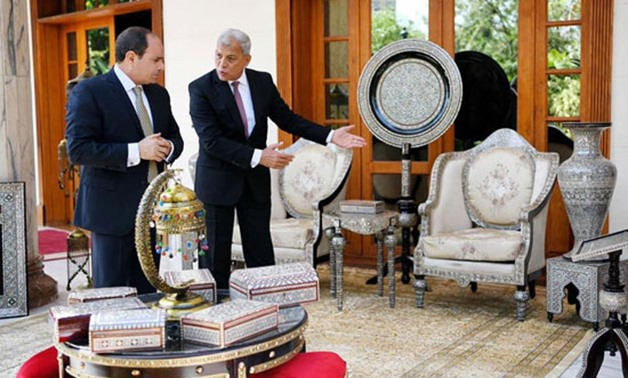 FILE: President Abdel Fatah al-Sisi with Governor of Monifia