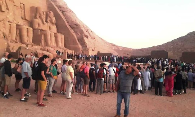 Sun rays illuminate face of Ramses II in Aswan for 20 minutes