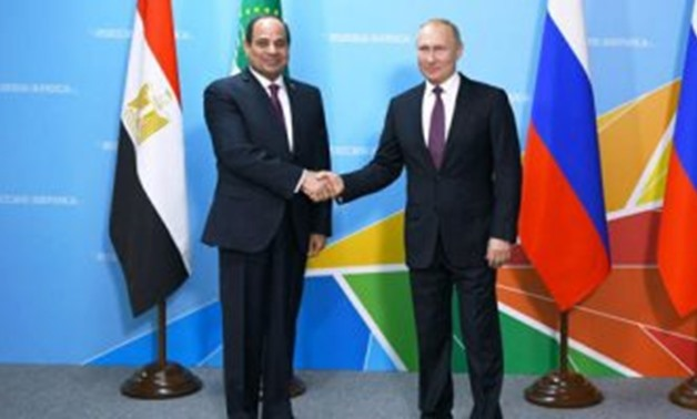 President Abdel Fatah al-Sisi with his Russian counterpart Vladimier Putin