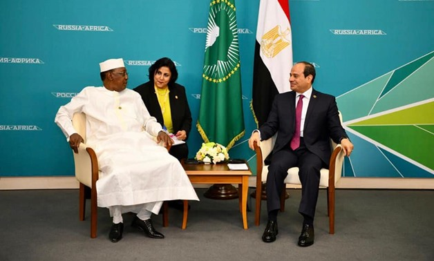 President Abdel Fatah al-Sisi holds a meeting with Chadian President Idress Deby - Press photo