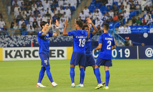 Al Hilal players celebrate the victory over Al Sadd, Photo courtesy of AFC Champions League Twitter