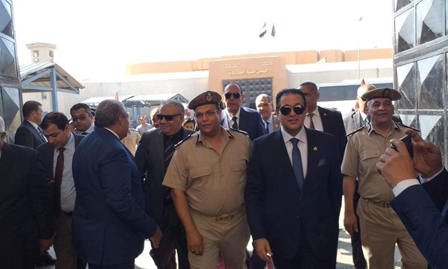 A delegation from the Parliament's human rights committee arrived at the prisons area of Upper Egypt's Minya governorate to check the human rights situation - Press photo