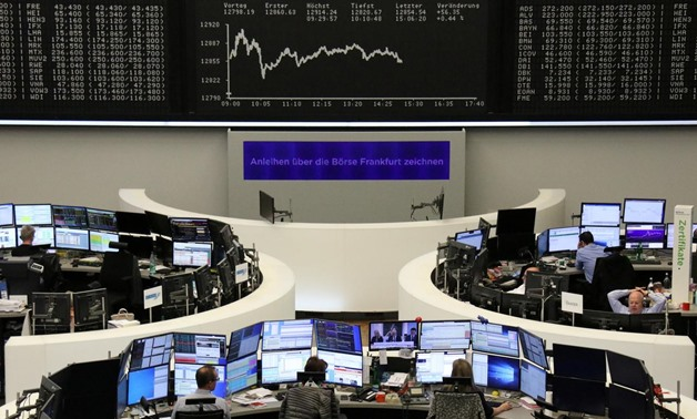 FILE PHOTO: The German share price index DAX graph is pictured at the stock exchange in Frankfurt, Germany, October 29, 2019. REUTERS/Staff